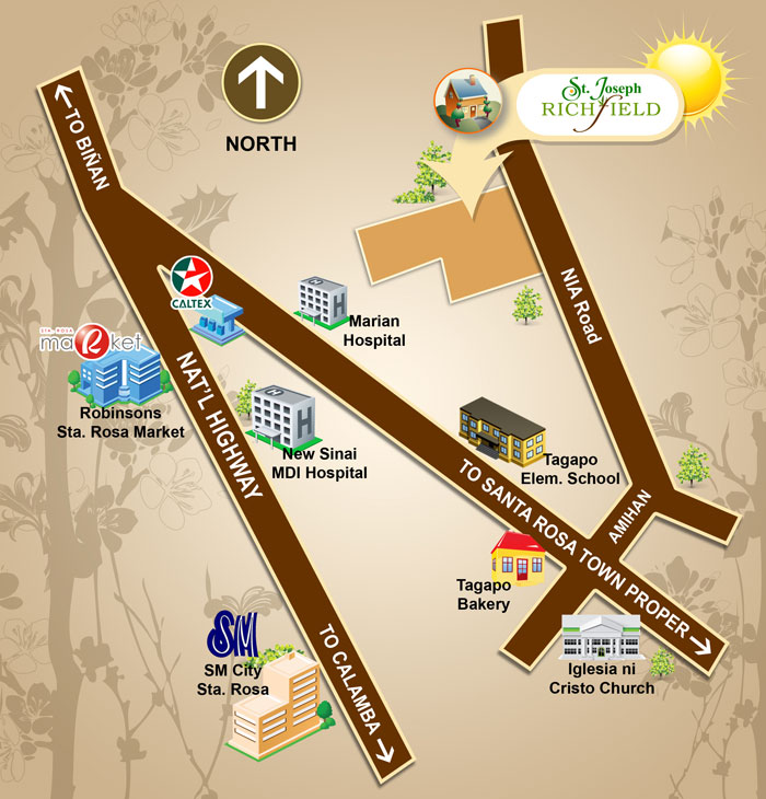 Map from PA Alvarez Properties Website